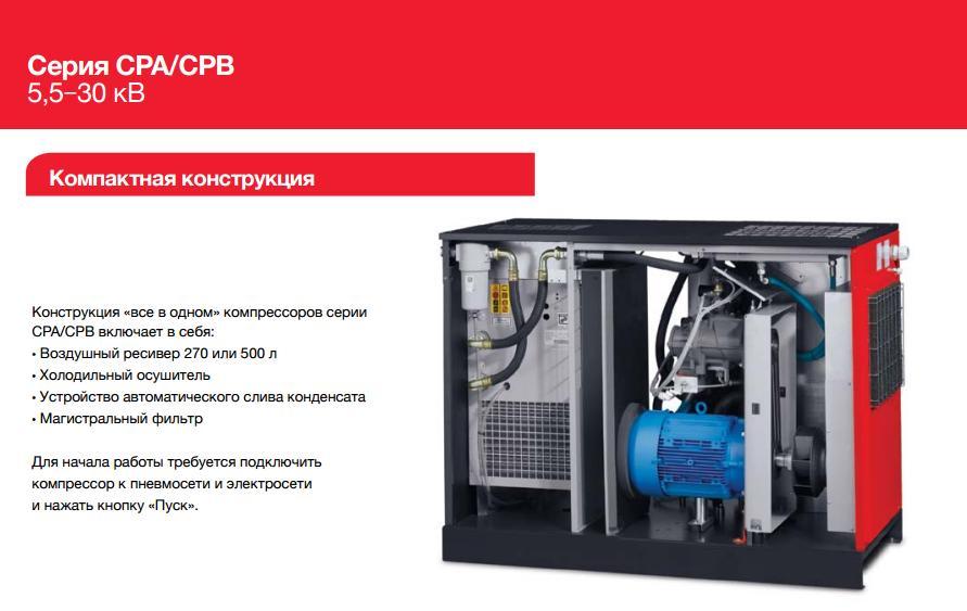 Винтовые компрессоры CPA CPB схема