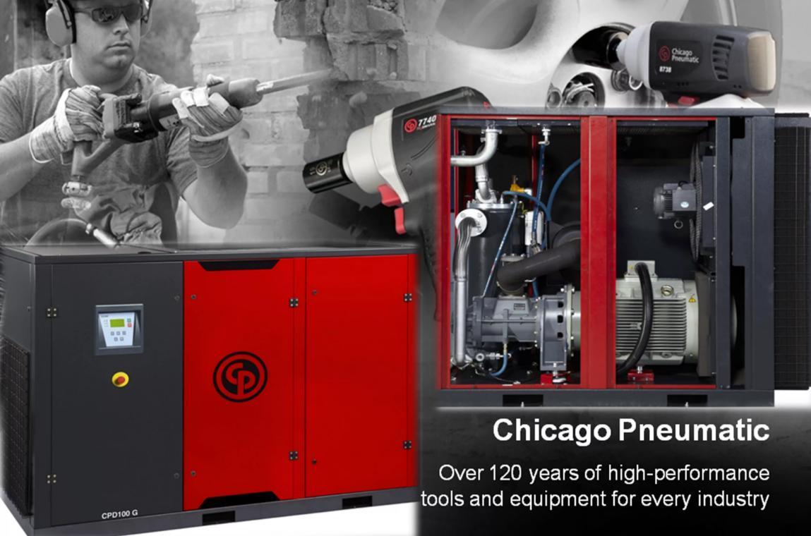 Компрессороное оборудование и инструменты Chicago Pneumatic на официальном сайте